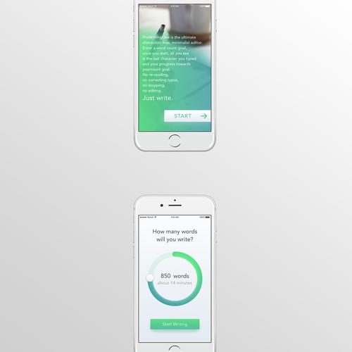 Minimalist Writing App UI