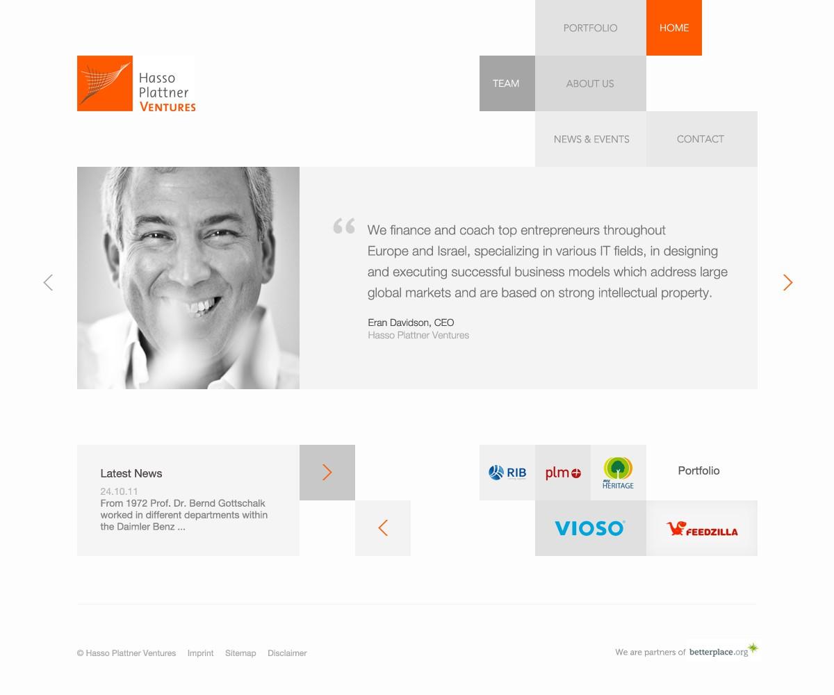 Clean & Modern webdesign wanted for Hasso Plattner Ventures
