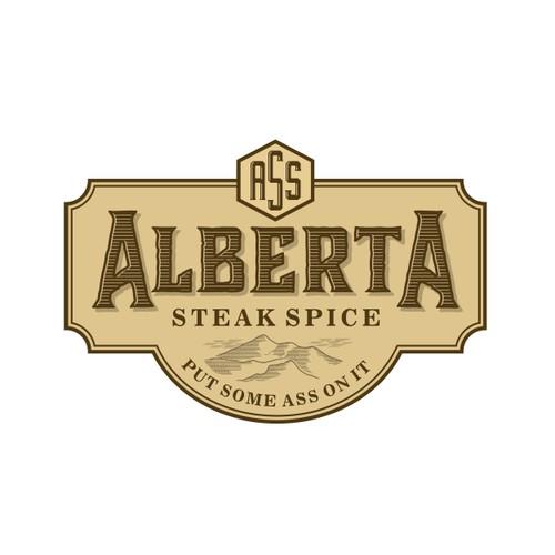 Rustic logo for Steak spice
