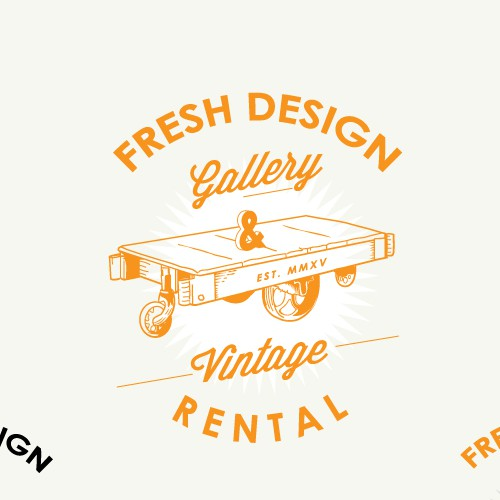 Logo design Fresh Design Gallery & Vintage Rental