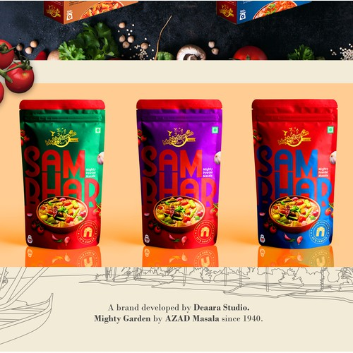 Spice company Branding and Packaging