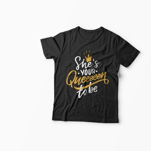 Lettering design for t-shirt