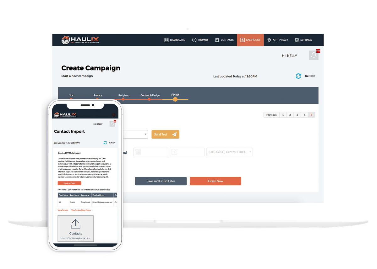 Haulix public website - phase 2 coding