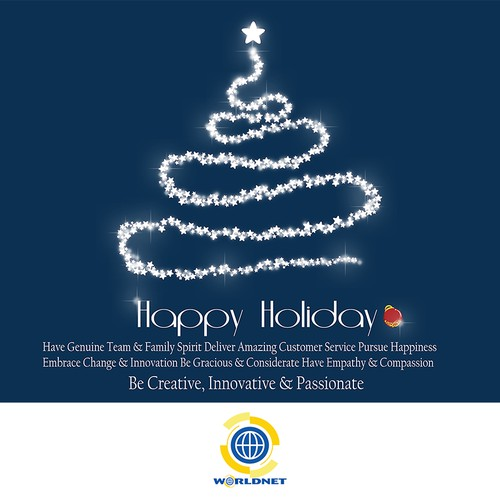 Are you creative, innovative & passionate? Design a holiday card for WorldNet!