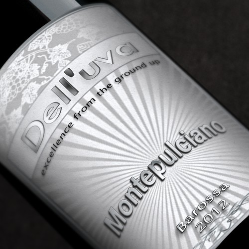 Wine label @@@design for Dell'uva Wines