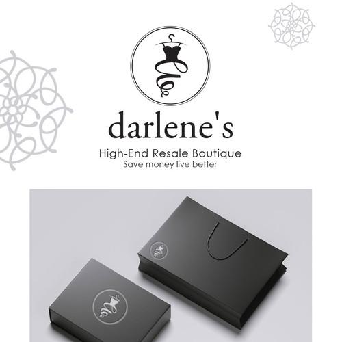 Logo Design For Darlene's Boutique