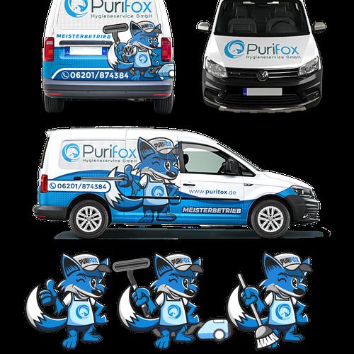 car wrap and mascot design