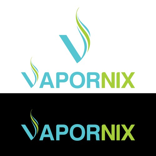Design a logo for a vapor shop named VAPORNIX
