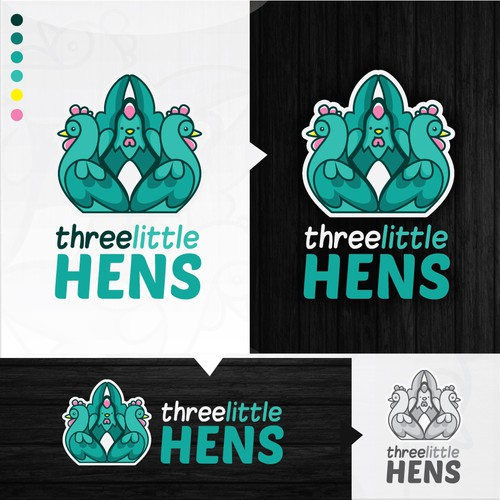 Logo concept for Three little hens