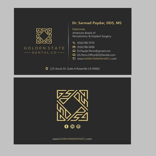 Design simple and creative business cards for a progressive dental office