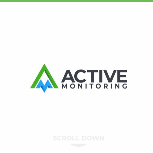 Active Monitoring Logo Concept