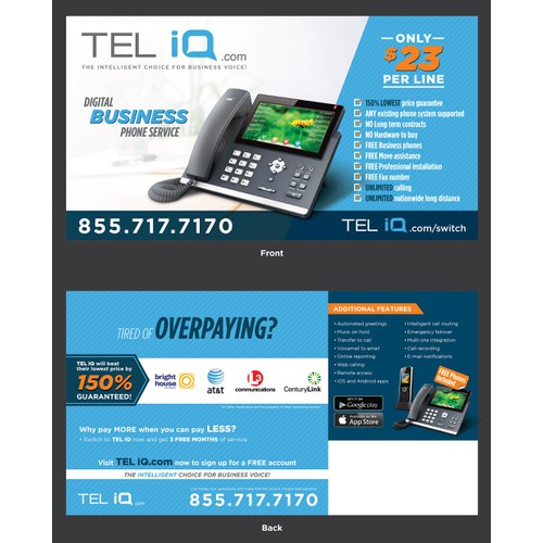 Full Page Mailer for Web Based Phone Service