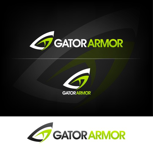 creative execution of letters G and A that resembles the eye of an alligator