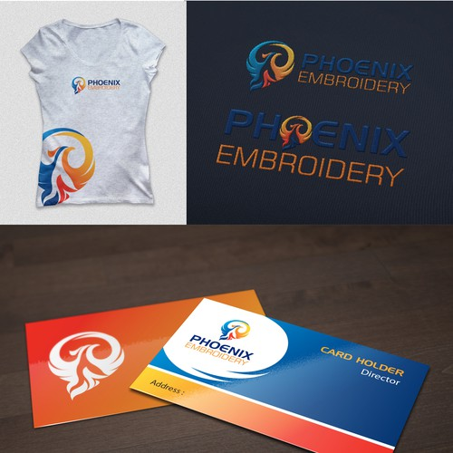Create a fresh vibrant logo for clothing decoration company