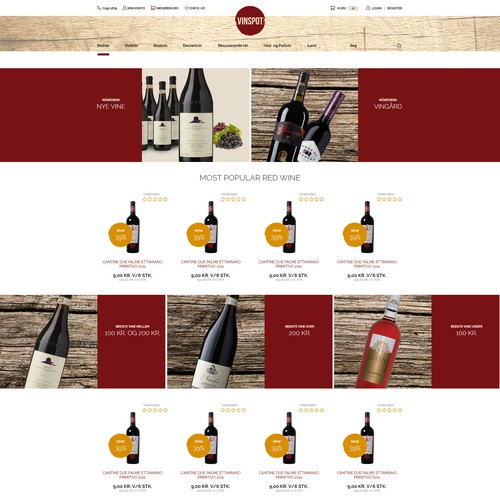 FOOD AND DRINK WEB DESIGN PROJECT