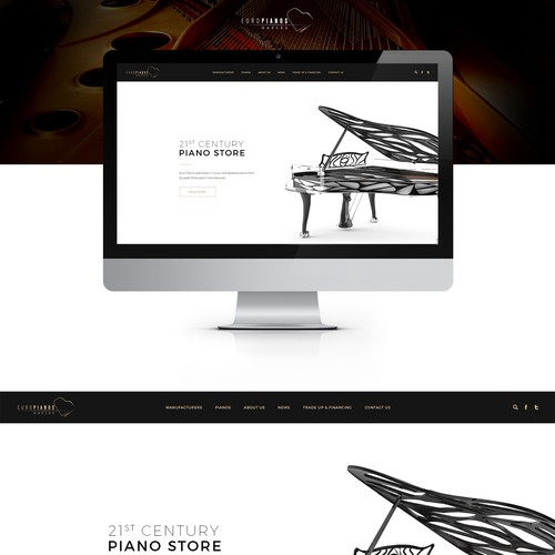 Luxury piano boutique