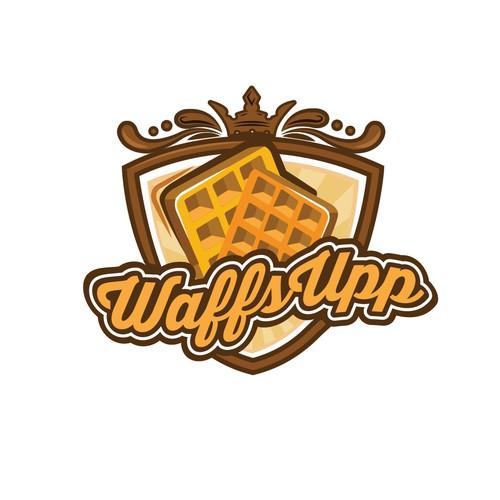 Bold logo for frozen waffles