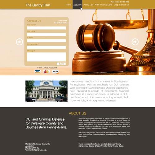 """Pagina web para firma de abogados """"The Gentry Firm"""""""