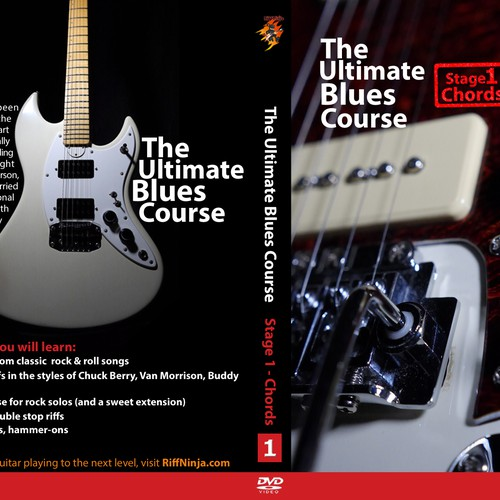 Create a winning DVD Case for Riff Ninja's Blues Guitar course!