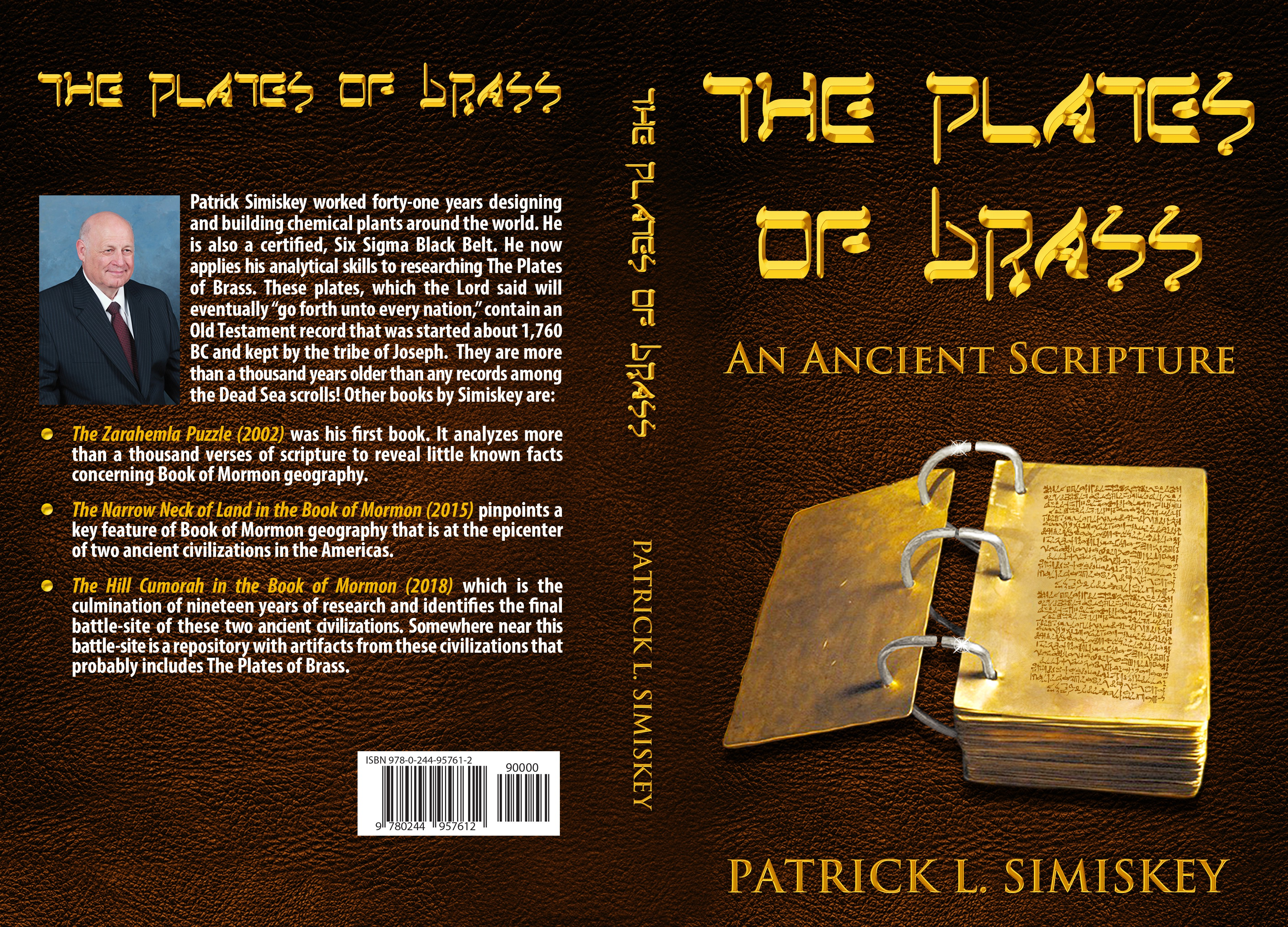 Cover design for Plates of Brass Book
