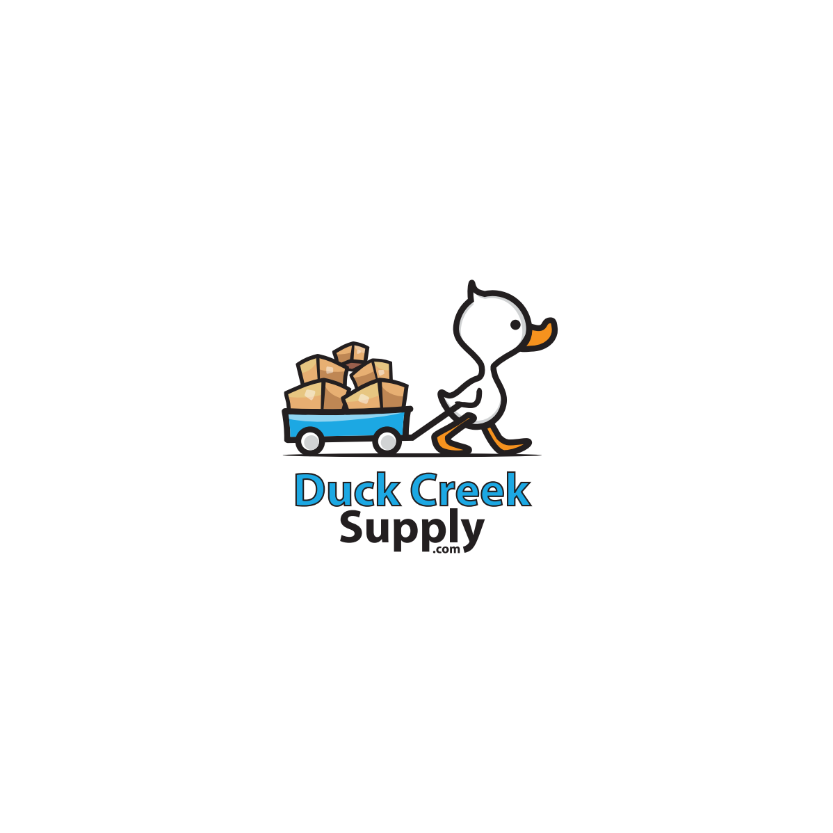 Logo, business card, and letterhead for Duck Creek Supply