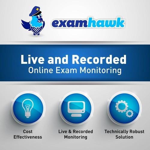 Create a trade show backdrop for ExamHawk!!
