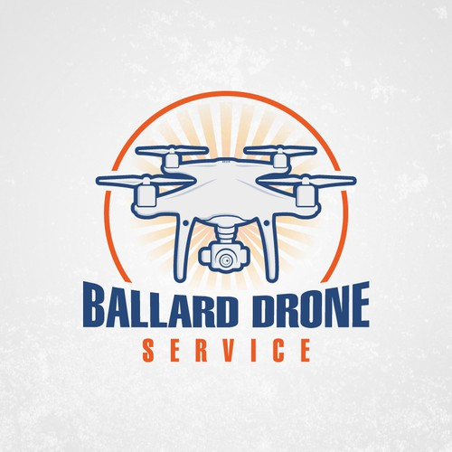 Bold logo for a Drone Service