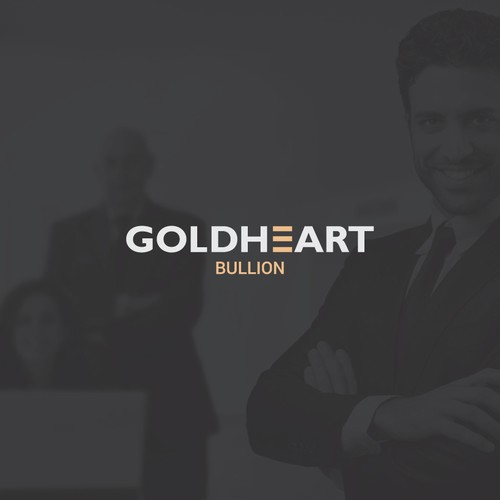 Clean typographic logo for gold currency