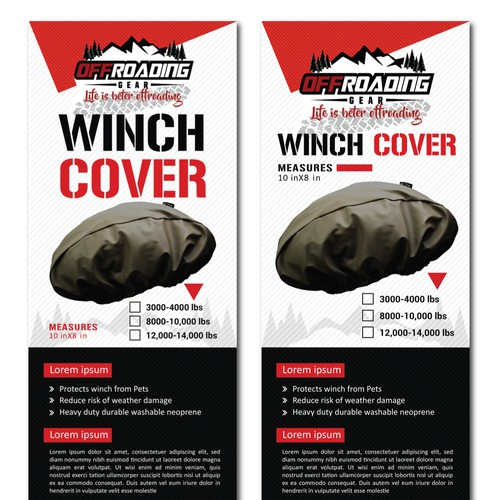 Winch Cover Label Design