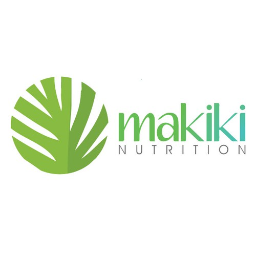 Create a fresh, young logo for Makiki Nutrition!
