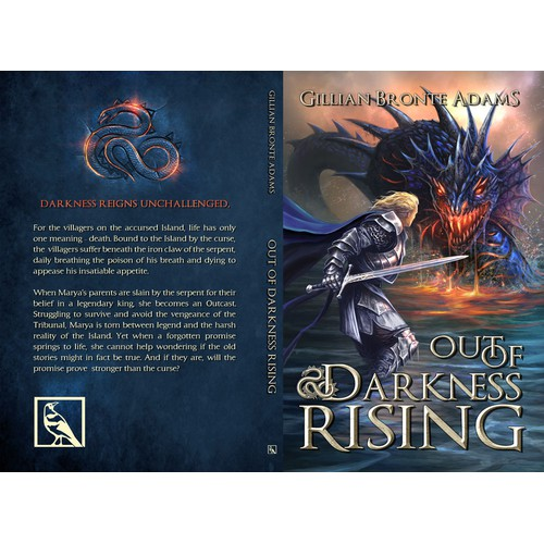 "Bold, Imaginative, Eye-Catching cover for new, YA epic fantasy ""Out of Darkness Rising"""