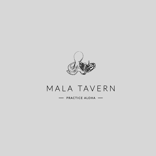 logo concept for hawaian beach restaurant