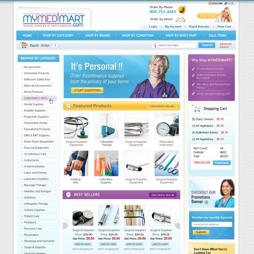 Fresh clean Medical Supplies Eccomerce Site