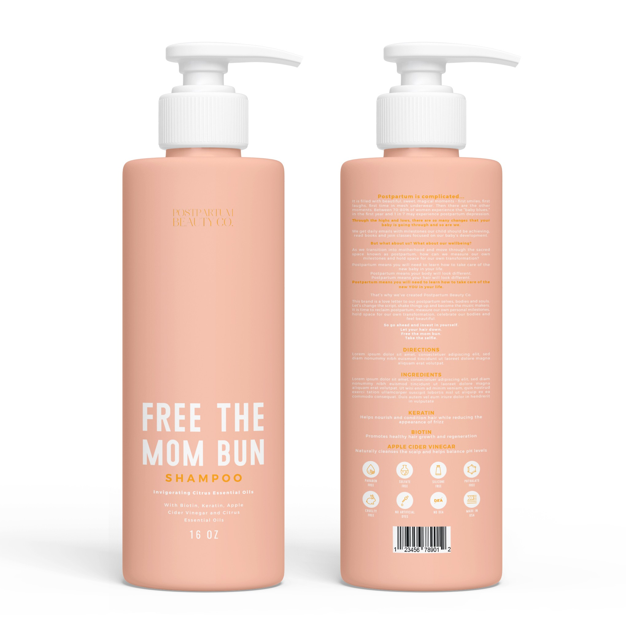 Shampoo and Conditioner Bottle for High End Brand