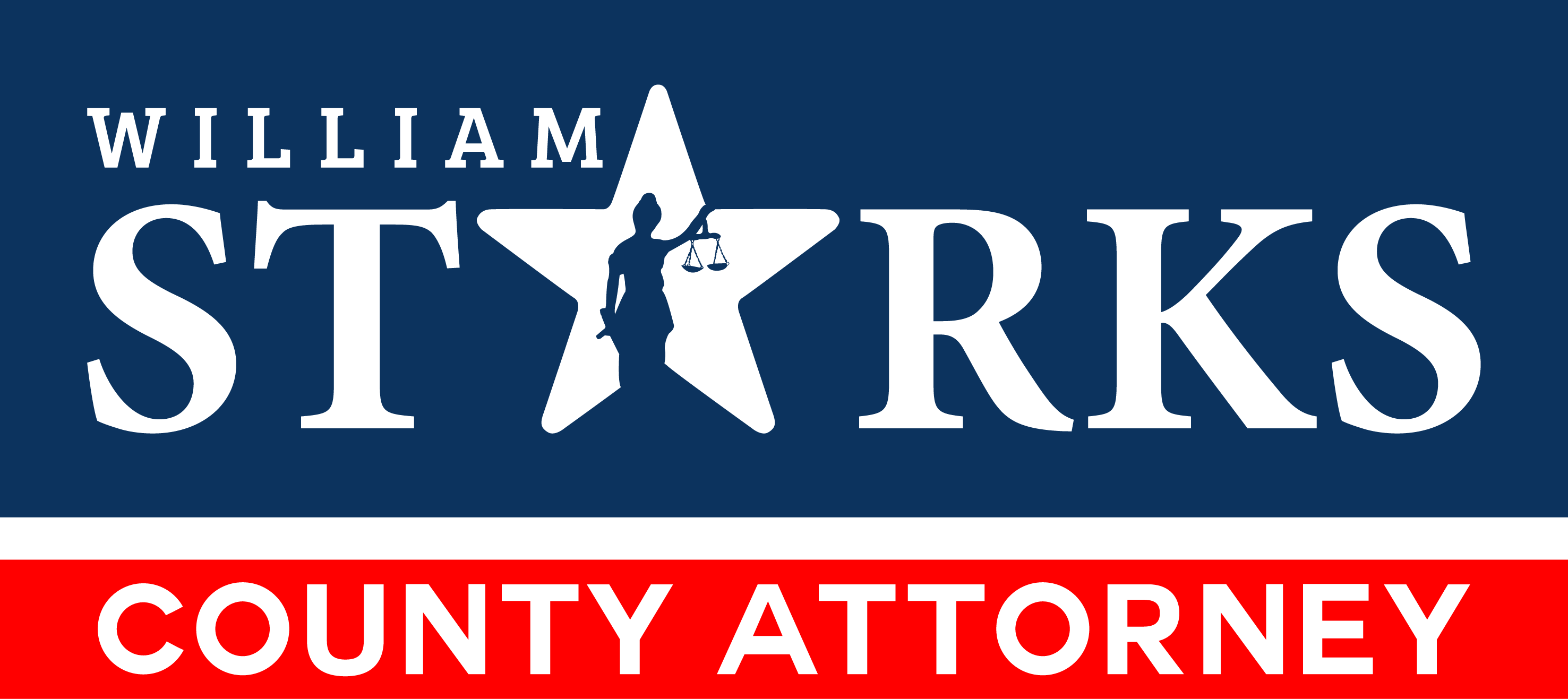 Create political logo for William Starks for County Attorney