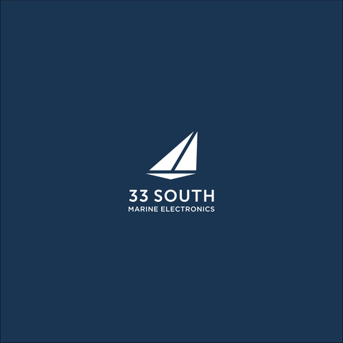 Simple logo for marine electronic equipment company: 33 South