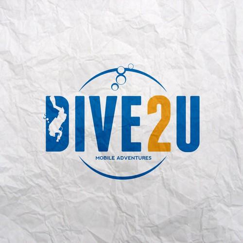 Logo concept Dive 2U