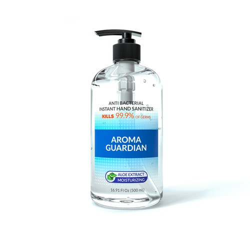 Hand sanitizer 3d visualization for amazon listing