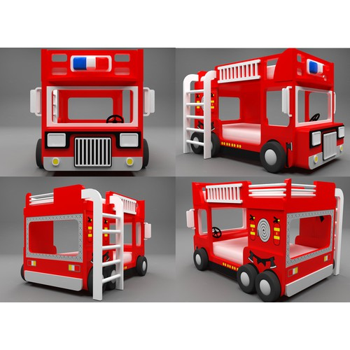 New design of Fire Engine Bunk bed