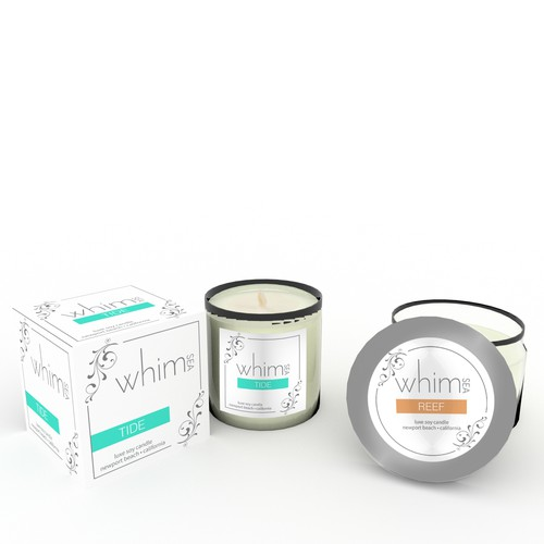 Packaging for luxe Candles