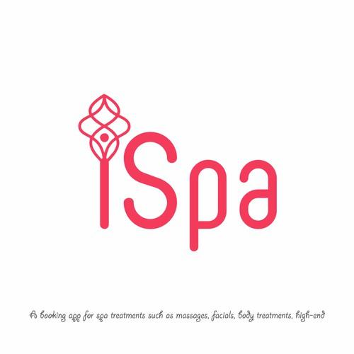 Design a contemporary stylish logo for iSpa