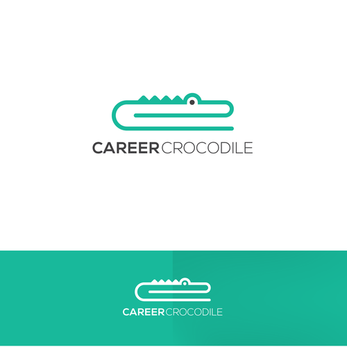 Logo concept for Career Crocodile