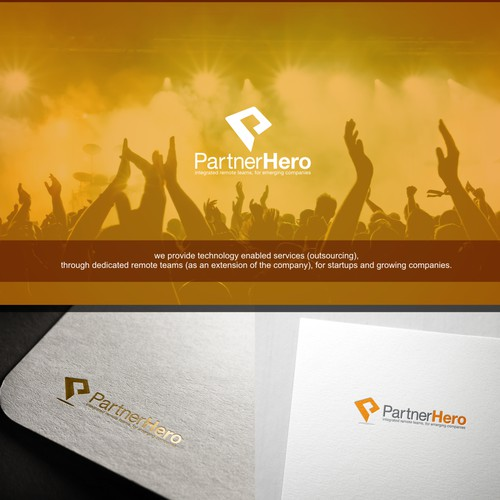 Create a logo for PartnerHero: an innovative take on outsourcing