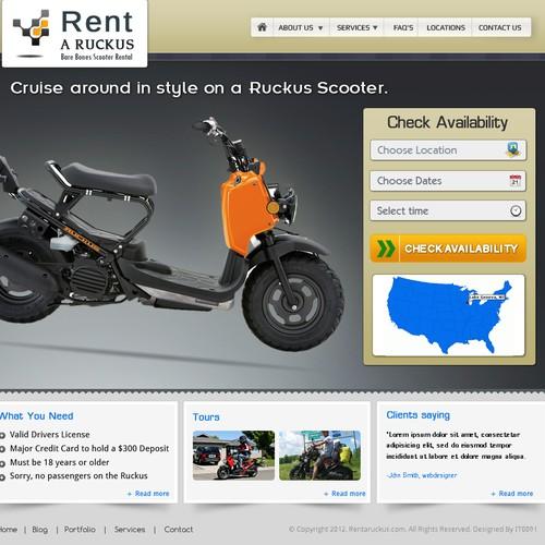 website design for Rentaruckus.com   (Scooter rental business)