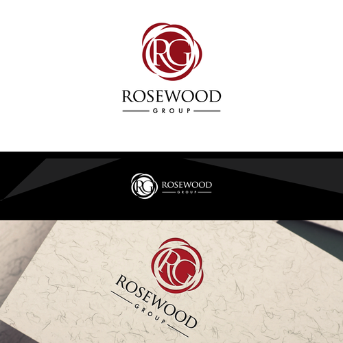 Create a warm and welcoming logo for The Rosewood Group