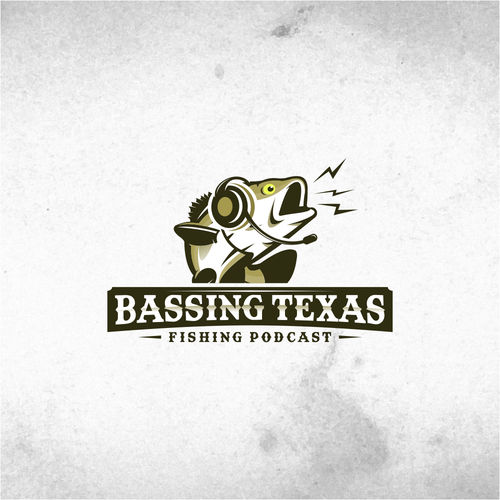 Logo for Bassing Texas Fishing Podcast.