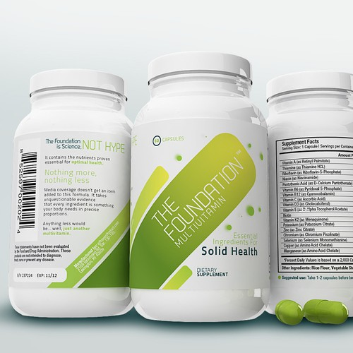 Vitamin Label (will be available in most of US by end of year)