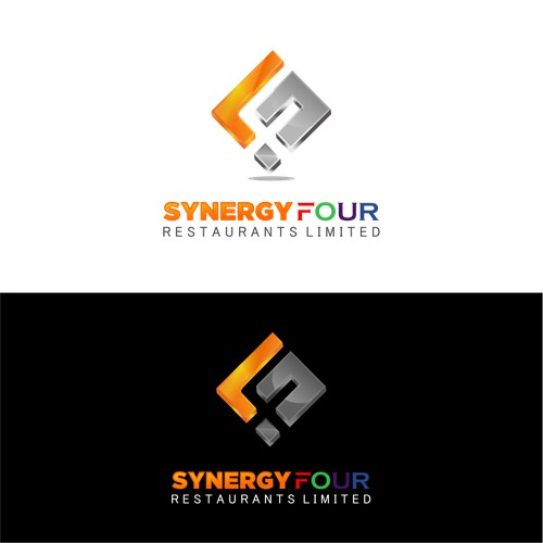 Create an eye catching modern slick logo for Synergy Four Restaurants Limited