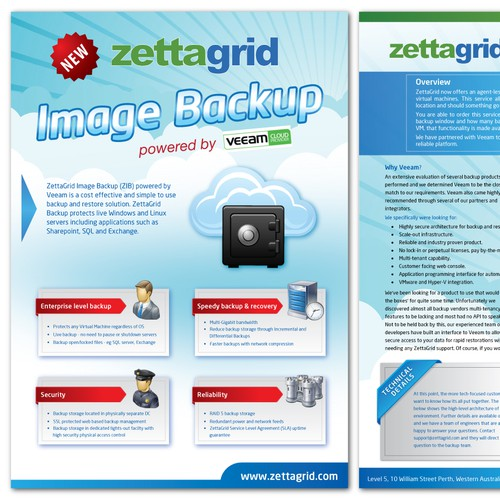 ZettaGrid needs a new product brochure