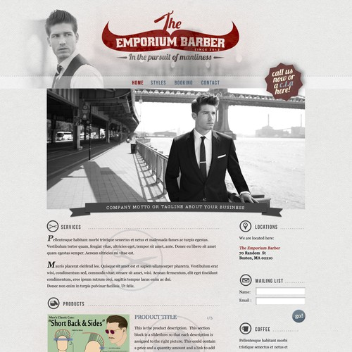 Design the first website for The Emporium Barber - BLANK CANVAS TO WORK WITH!!!